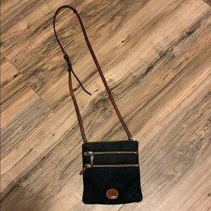 Dooney & Bourke Black Brown Crossbody Handbag